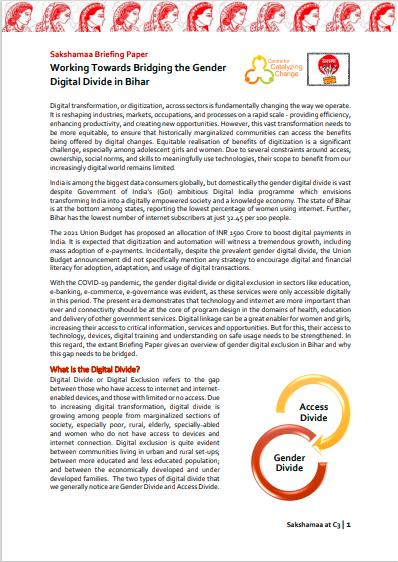 Working Towards Bridging the Gender Digital Divide in Bihar